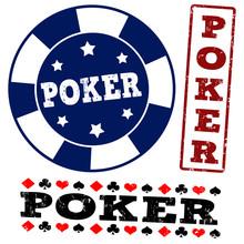 Set Of Poker Stamps