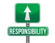 responsibility road sign illustration design