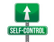 self control road sign illustration design