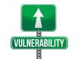 vulnerability road sign illustration design