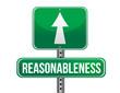 reasonableness road sign illustration design