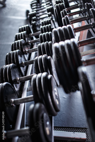 Few heavy dumbbells in the gym