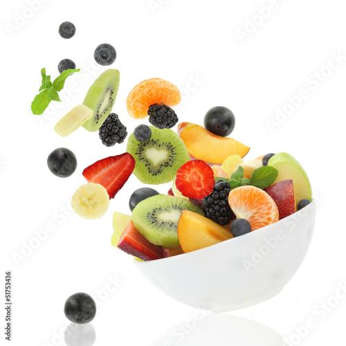 Keuken foto achterwand Vruchten Fresh fruits coming out from a bowl