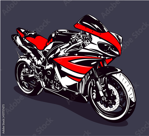 Wall Murals Motorcycle Red sport motorbike