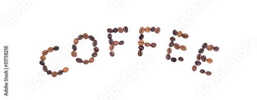 Poster Café en grains coffee beans
