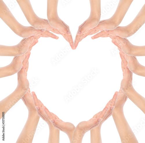 Fototapeta Hands make heart shape obraz na płótnie
