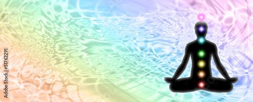 Doppelrollo mit Motiv - Lotus Position Meditation Website Header (von Nikki Zalewski)