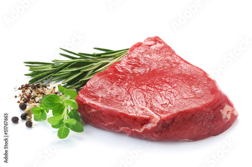 Deurstickers Vlees Raw Steak