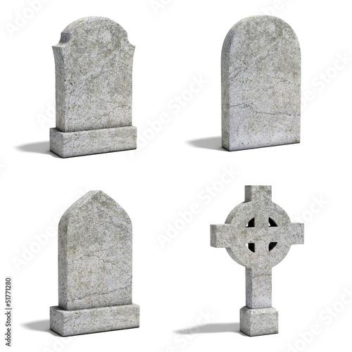 Valokuvatapetti gravestone set