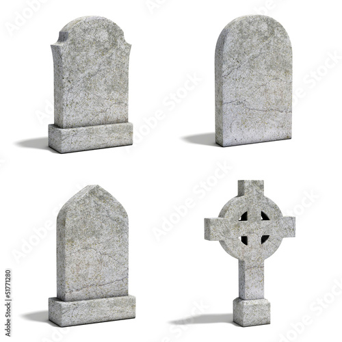 Foto gravestone set