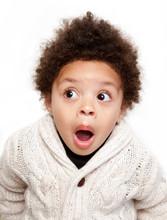 Dropped Jaw Open Eyes Shocked Child