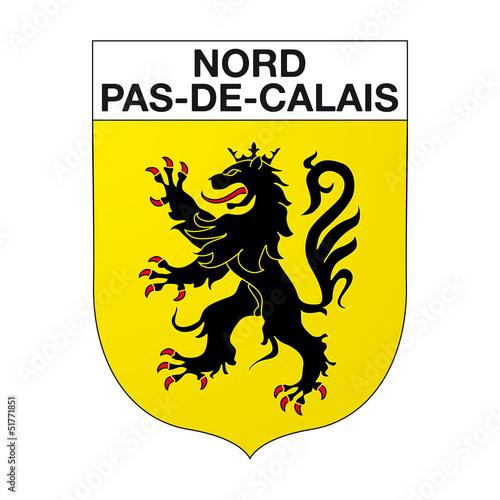 Canvas Print Blason Nord-pas-de-Calais
