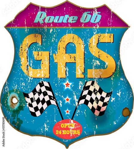 vintage gas station sign,vector