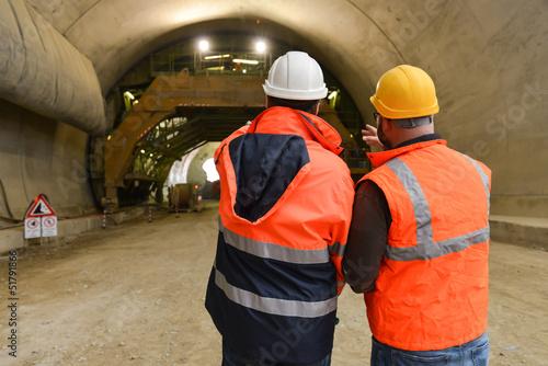 Papiers peints Tunnel Lavori in galleria