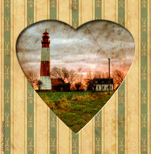 Photo Stands Vintage Poster Vintage Heart - Leuchtfeuer