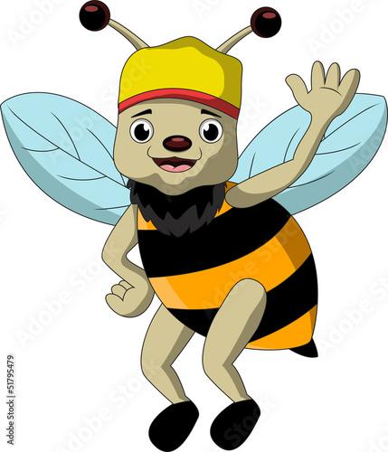 Funny Bee Cartoon Kaufen Sie Diese Vektorgrafik Und Finden Sie