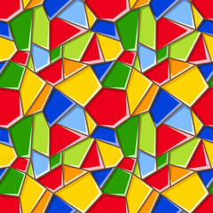 Stained glass. Vector seamless background.