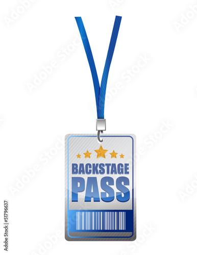 Fotografía  Backstage pass vip illustration design