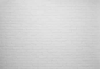 Fototapeta White brick wall background, texture