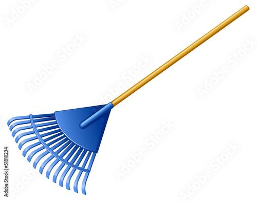 Fotografía A blue rake