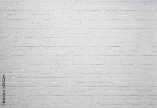 Fotobehang Baksteen muur White brick wall background, texture