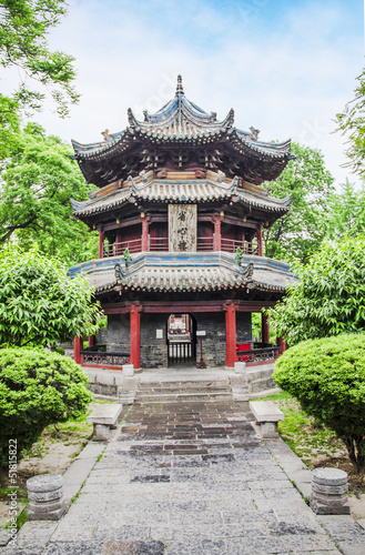 Staande foto Xian Pavillon in the Giant Wild Goose Pagoda, X'ian, China