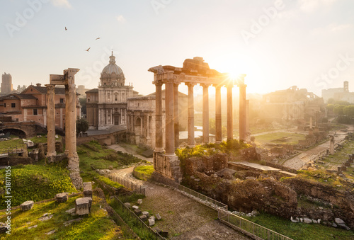 Canvas Print Rome ruines forum romain