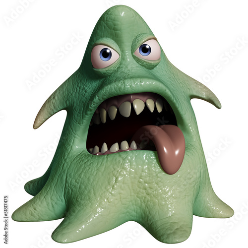 Garden Poster Sweet Monsters 3d cartoon halloween monster