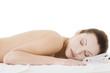 Beauty woman relaxing in spa