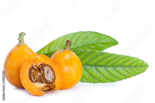 Fotografering  Loquats isolated