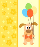 Background card with funny dog