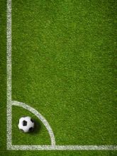 Soccer Ball In Corner Kick Pos...