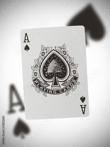 Photo Playing card, ace of spades