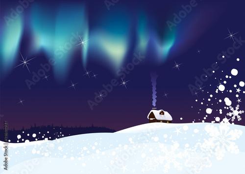 Fotografie, Obraz  Northern Lights on Christmas night