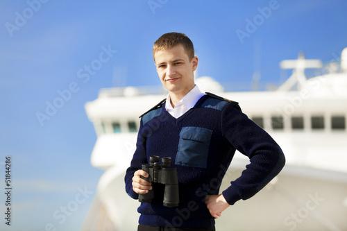 Fotografía  boatswain near the boat