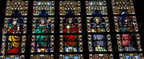 Photo Roman catholic saints - stained glass