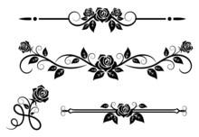 Rose Flowers With Vintage Elem...
