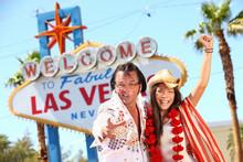 Las Vegas Elvis Impersonator Having Fun