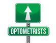 optometrists road sign illustration design