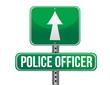 police officer road sign illustration design