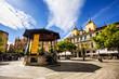 Music stage in the main square of Segovia, Castilla y Leon, Spai