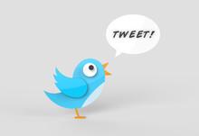 Cute Twitter Bird Tweeting A M...