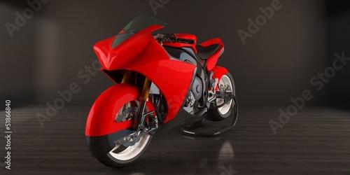 Poster Motocyclette red bike