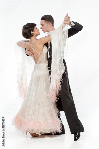 beautiful couple in the active ballroom dance Poster Mural XXL