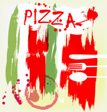 Pizza menu, artificial, grungy style - 51872454