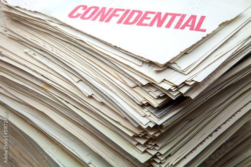 Fotografía  documentos confidenciales