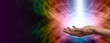 canvas print picture - Healing light Website Banner Head