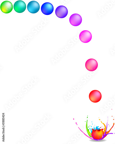 Photo  Rainbow coloured paintballs