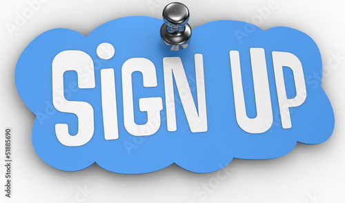 Платно Sign Up website pin label icon