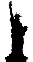 Statue Of Liberty Vector Black...